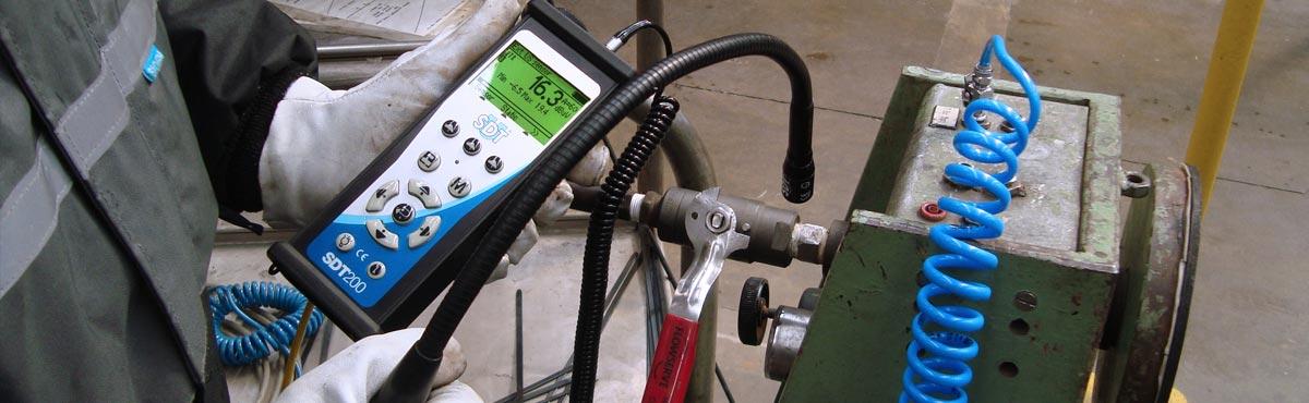 Ortung von Druckluftleckagen